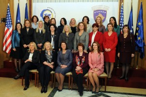 Hillary Clinton with the Kosovo Women's Caucus