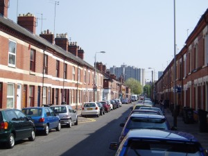 Jarrom Street, Leicester, looking towards the city centre