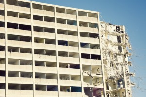 Demolition of Cabrini-Green building